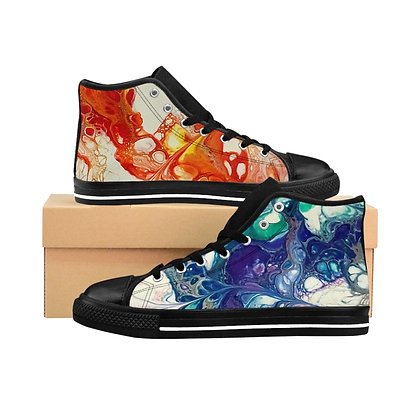 Fire and Ice Women's High-top Sneakers