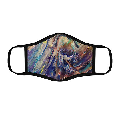 """Chaos"" Fitted Polyester Face Mask"