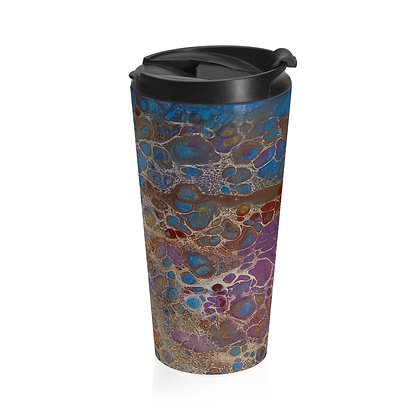 """Purple Falls"" Stainless Steel Travel Mug"