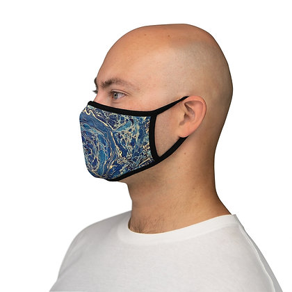 """Blue Lagoon"" Fitted Polyester Face Mask"