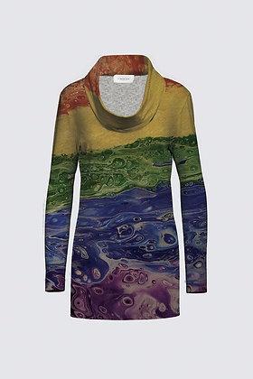 """Rainbow Striped"" Mia Tunic in Sweater Knit"