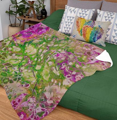 """""""Rose"""" Velveteen Plush Blanket"""