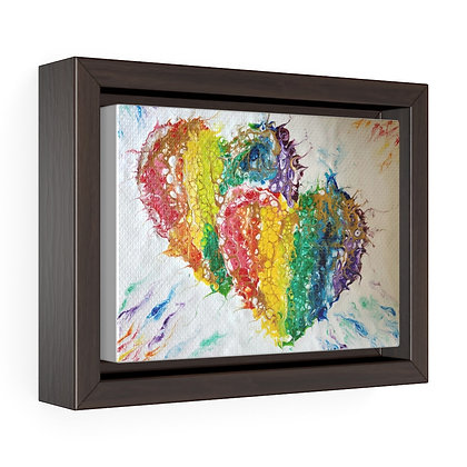 """Spread Love"" Framed Premium Gallery Wrap Canvas Print"