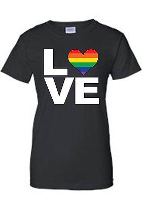 """Juniors LGBT """"Rainbow Flag Gay Love Pride Flag Pride!"""" T-Shirt"""