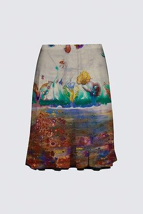 """Rainbow Garden"" Premium Skirt"