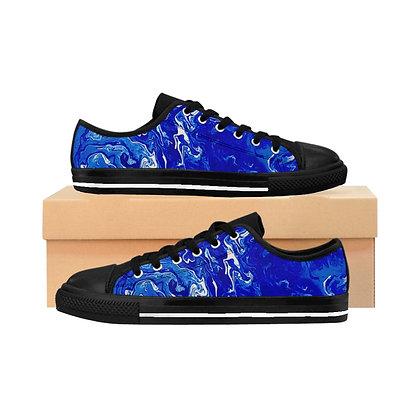 """""""Blue Swirl Bay"""" Men's Sneakers"""