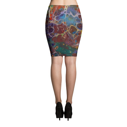""" Flower Garden"" Pencil Skirt"