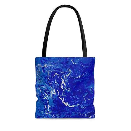 """""""Blue Swirl Bay"""" Tote Bag"""