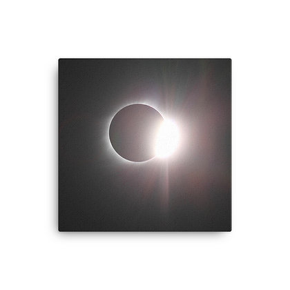 Eclipsed Again on Canvas Print