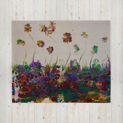 """""""Flower Garden"""" Throw Blanket"""
