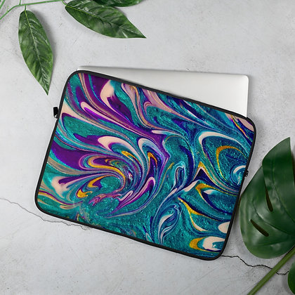 """Peacock Heart"" Laptop Sleeve"