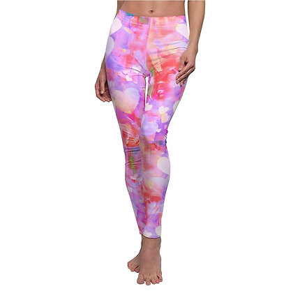 Colorful Heart Print Leggings