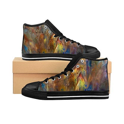 """Feathers up"" Women's High-top Sneakers"
