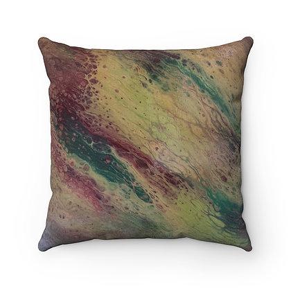 """""""M & M"""" Faux Suede Square Pillow"""