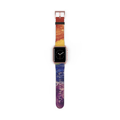 """Rainbow Striped"" Watch Band"
