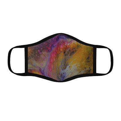 """""""Sunset Waves"""" Fitted Polyester Face Mask"""