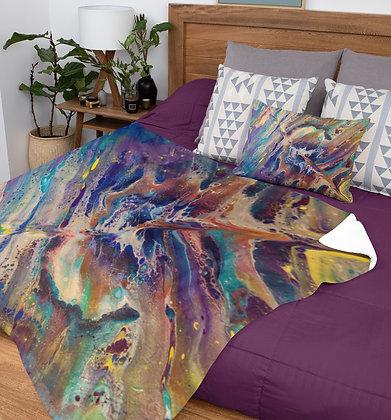 """""""Chaos"""" Velveteen Plush Blanket"""