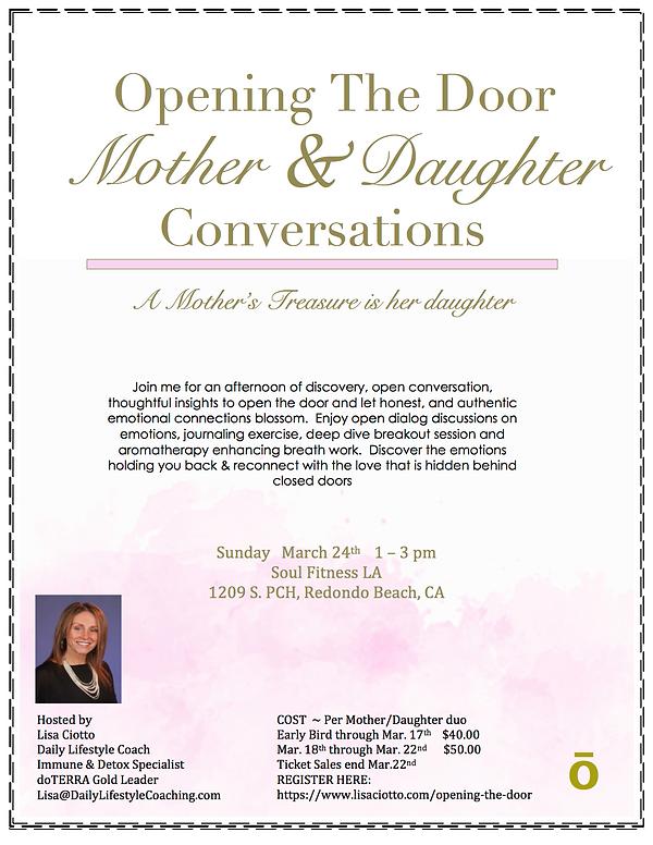 Opening The Door-Mother-Daughter Convers