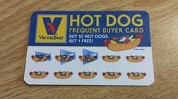 free hotdog card
