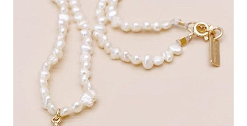 Collier perles d'eau douce + goutte - Leky James - collier & bijoux Vienne 38
