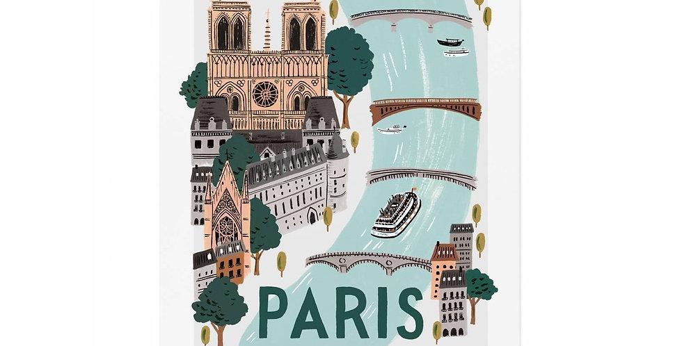 Affiche Paris Riffle - décoration murale - Vienne