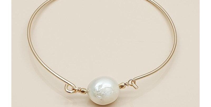 Bracelet Jonc perles l d'eau douce - Leky James - bracelet & bijoux Vienne 38
