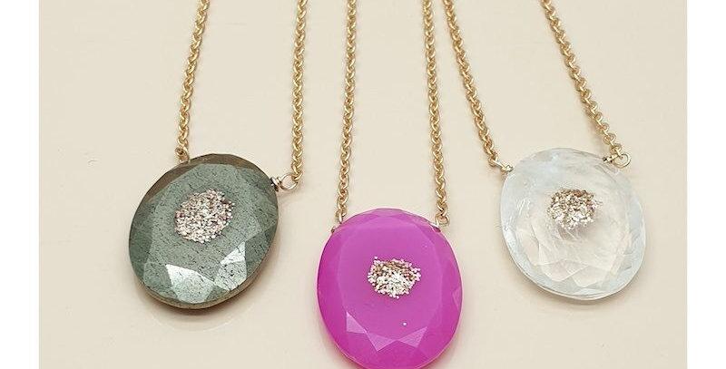 Collier Pierre de lune, chaîne en or - Leky James - collier & bijoux Vienne 38