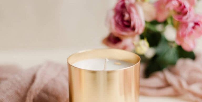 Bougie  Parfumée Rose  - Maison Shiiba - Boutique décoration Vienne