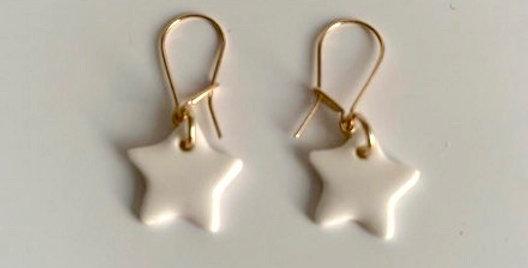 Boucles d'oreille étoiles Margote Céramiste - bijoux Vienne