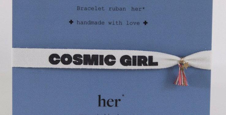 Bracelet ruban Cosmic Girl - Atelier Her - bijoux Vienne