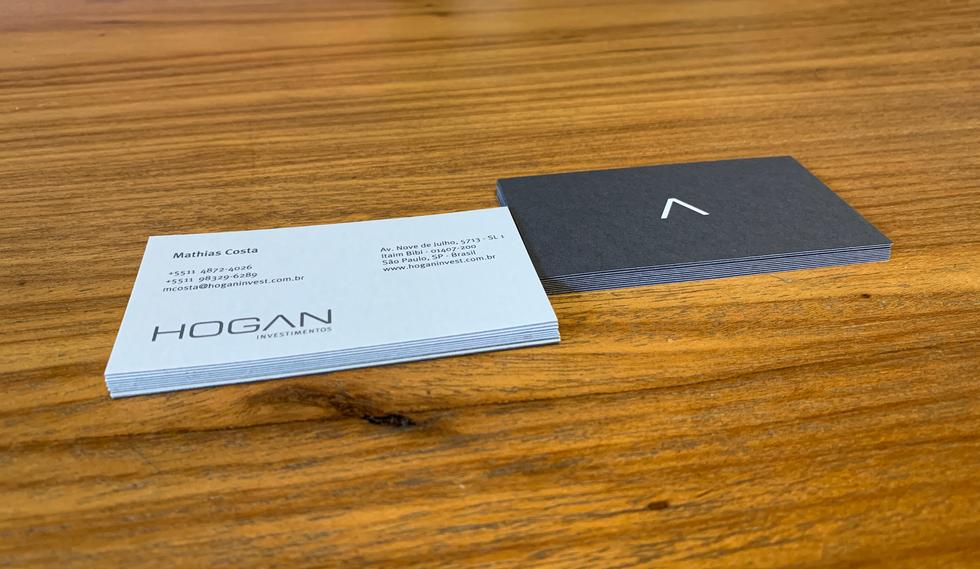 Cartão de visita Hogan Investimentos