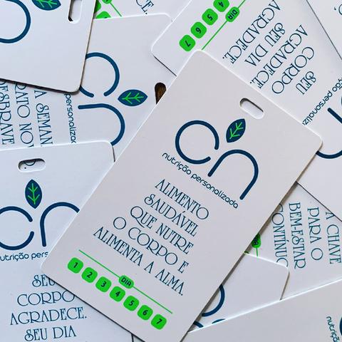 Tags motivacionais da marca CN Nutricão Personalizada - Identidade Visual, Absolut Design