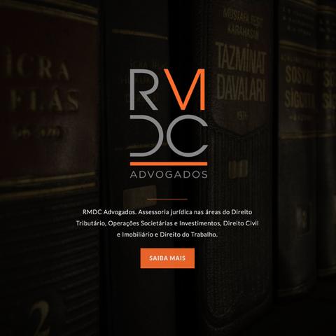 Logo RMDC, versão resumida quadrada. Este em uso na abertura do site. Design gráfico, Absolut Design