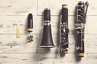 gedemonteerde klarinet