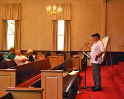 Jim addressing church leaders