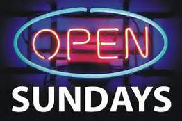 open Sundays!