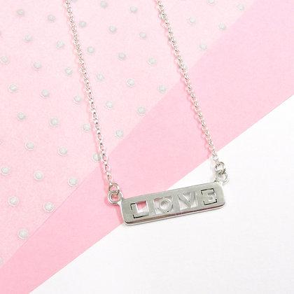 Love bar necklace
