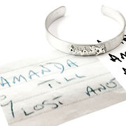 Amanda custom handwriting bangle