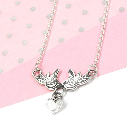 Swallow love necklace