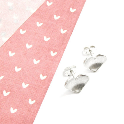 Domed heart studs