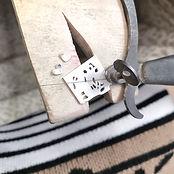 Hand piercing sawing name bracelet jewellery