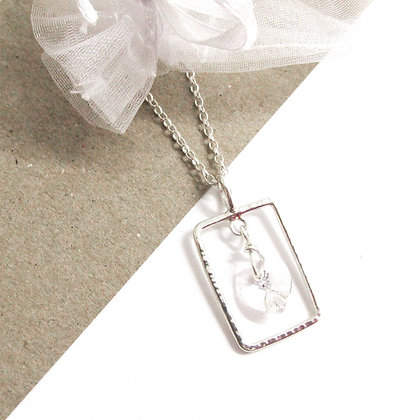 Clear swarovski necklace