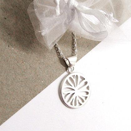 Daisy tear drop necklace