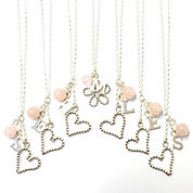 Rose quartz bridesmaid necklaces