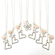 Rose quartz bridesmaid necklaces
