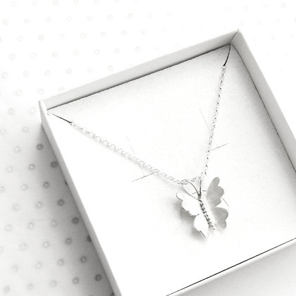 Large 3d butterfly necklace