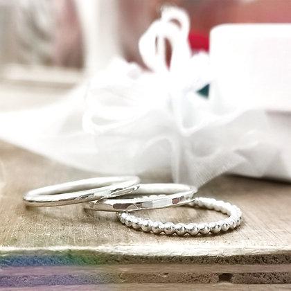 Set of x3 stacking rings