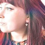 Domed heart earrings