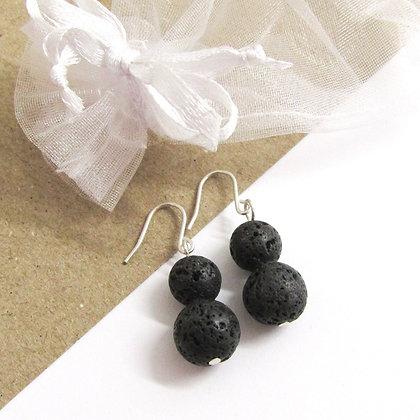 Double lava earrings