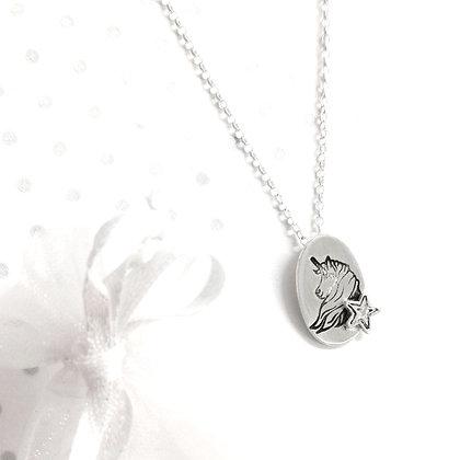 Unicorn  star necklace